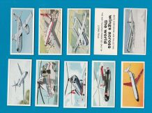 collectable TRADE cards Wings across the world Airplanes set